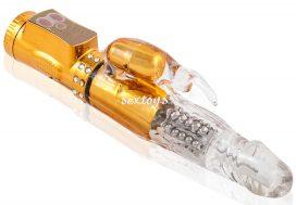 Elegancki złoty wibrator rotacyjny