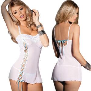 Mini sukienka z tasiemkami
